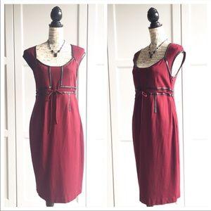 🌱MATERNITY🌱 A Pea In The Pod Burgundy Wine Dress